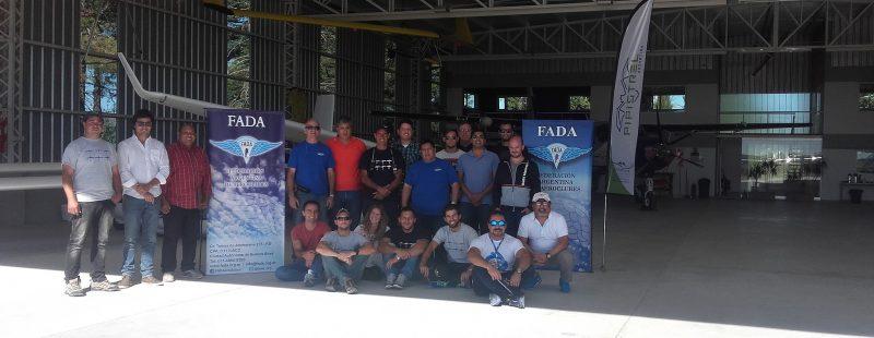FADA, en La Cumbre, junto a Aeroatelier y Pipistrel.